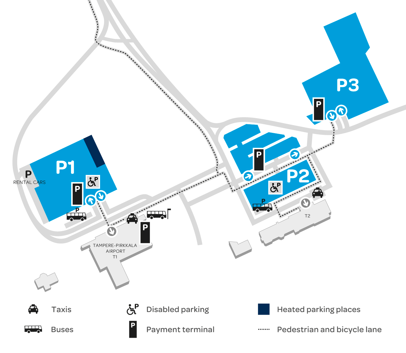 Parking At Tampere Pirkkala Airport Finavia Electric Car Charger Schematic Heated Spaces And Charging