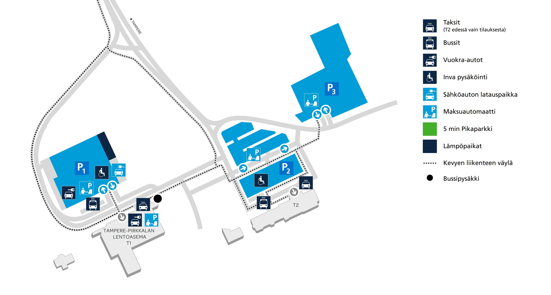 Tampere Pirkkalan Lentoaseman Pysakointi Finavia