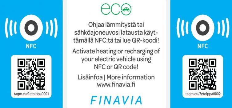 Instructions for car heating and charging service.