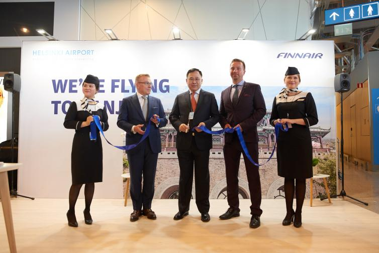 Finnair route opening to Nanjing / delegation