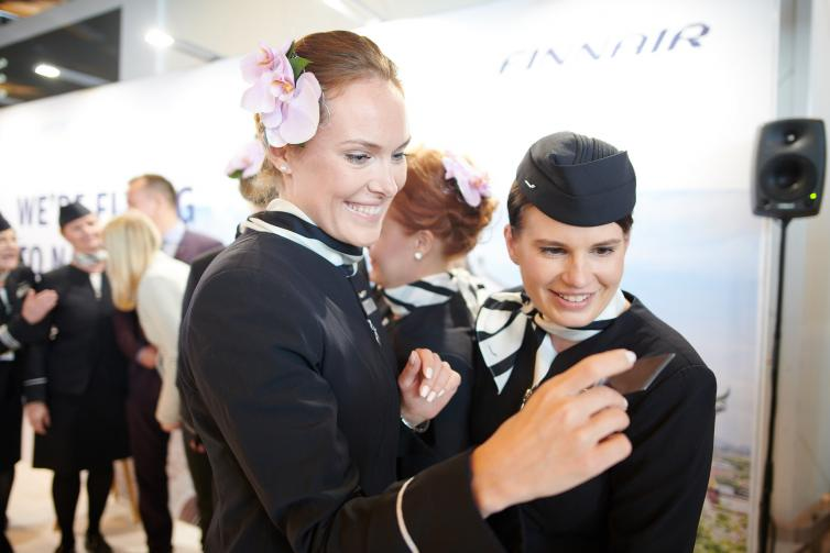 Finnair route opening to Nanjing / personnel