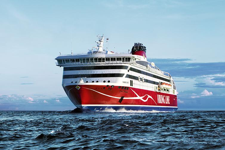 Viking Line ship at sea.