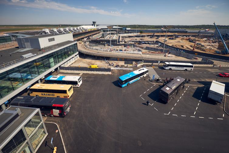 bird's eye view of new bus station.