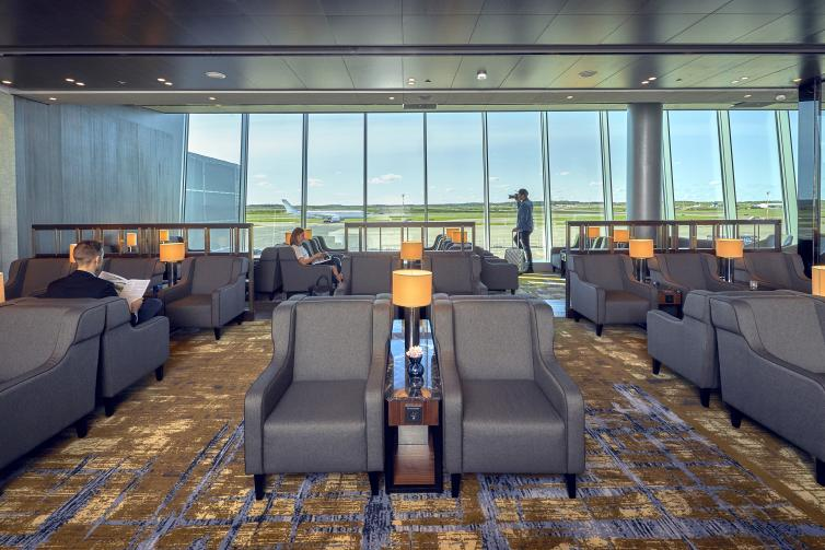 Plaza Premium Lounge seating area