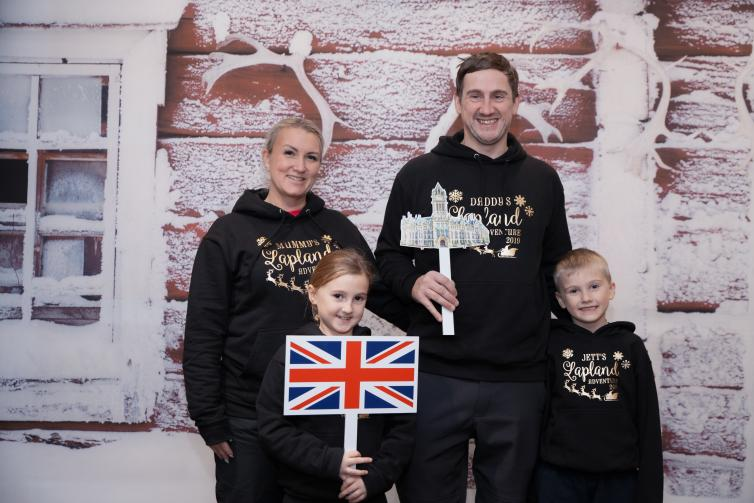 A family picture at the route opening ceremony