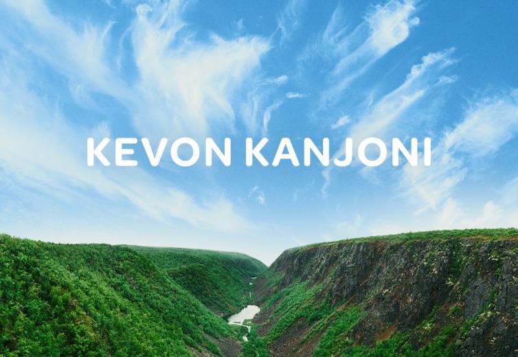 Kuva Kevon kanjonista Finavian kesäkampanjassa