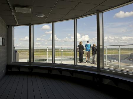 Scenic terrace at Helsinki Airport 1