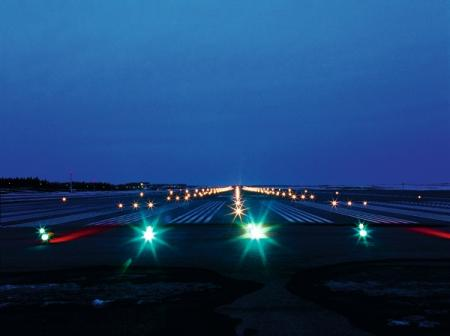 Apron and runways