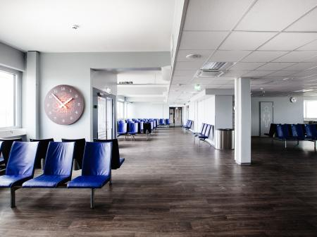 Waiting area at Turku Airport