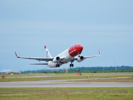 Norwegian's airplane departures Helsinki Airport