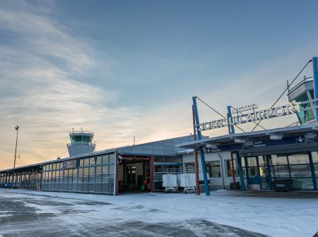Joensuu Airport terminal main entrance