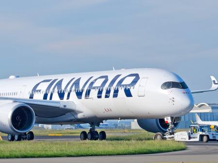 Finnair Airbus A350 airplane.