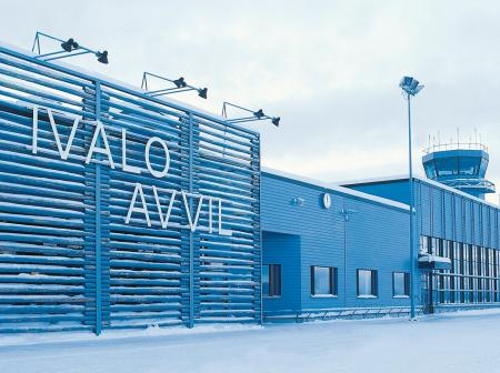 The front of airport at Ivalo.