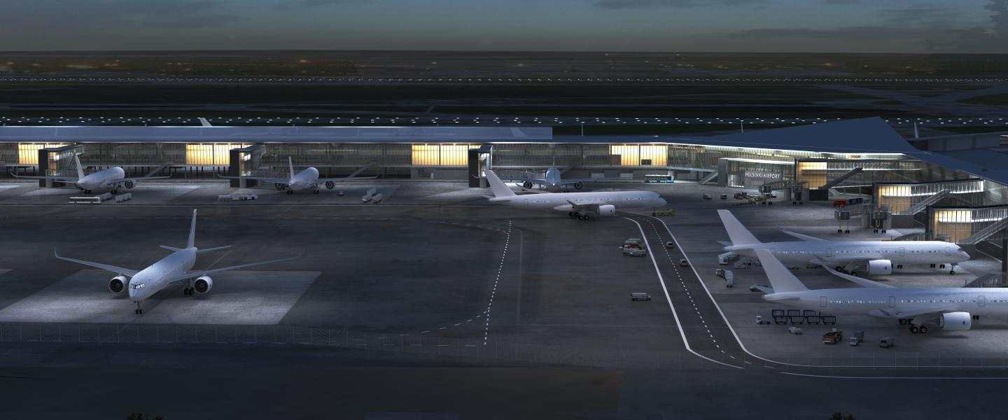 Illustaration Helsinki Airport 2020