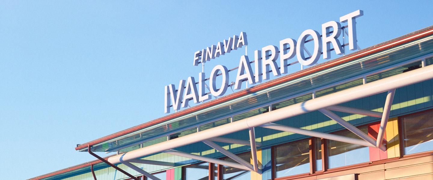 Ivalo airport´s terminal outside