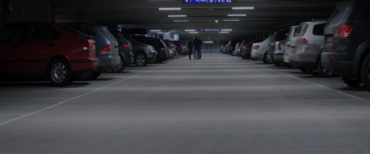 Cars parked in a parking space at Helsinki airport