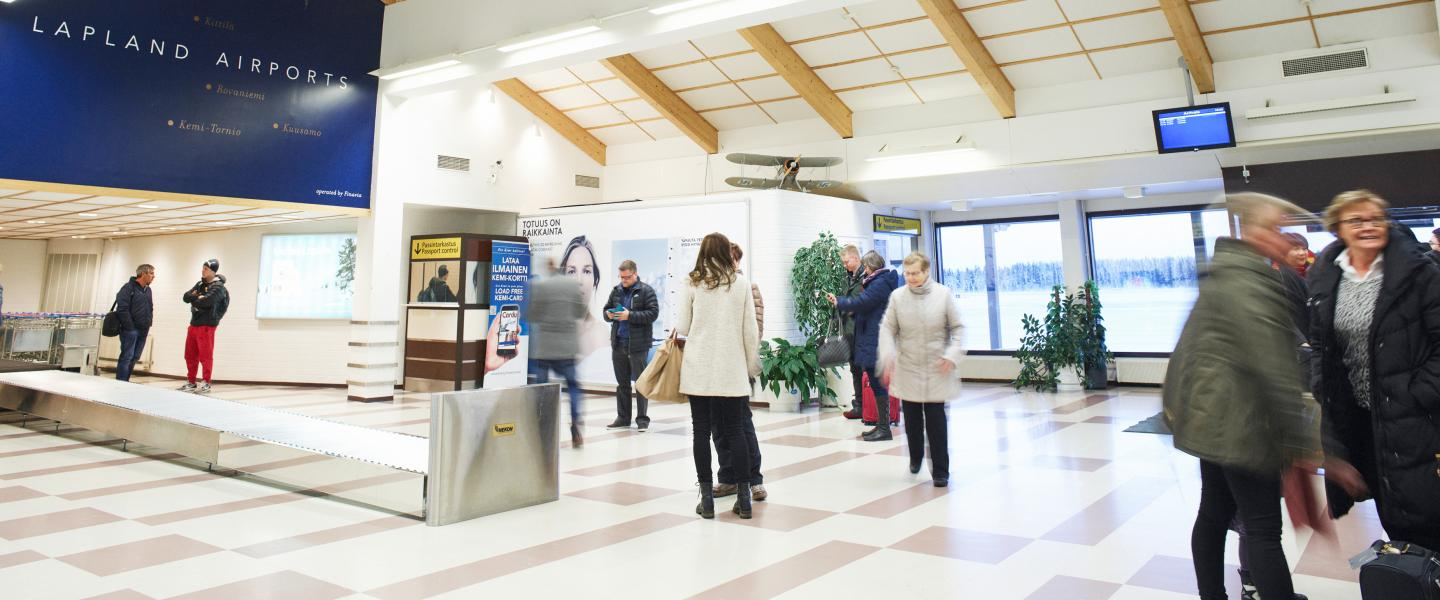 Arrivals hall at Kemi-Tornio Airport