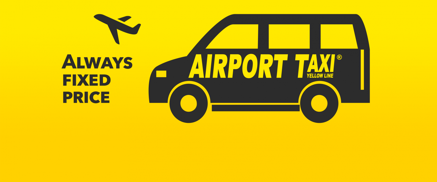 Airport taxi yellow line