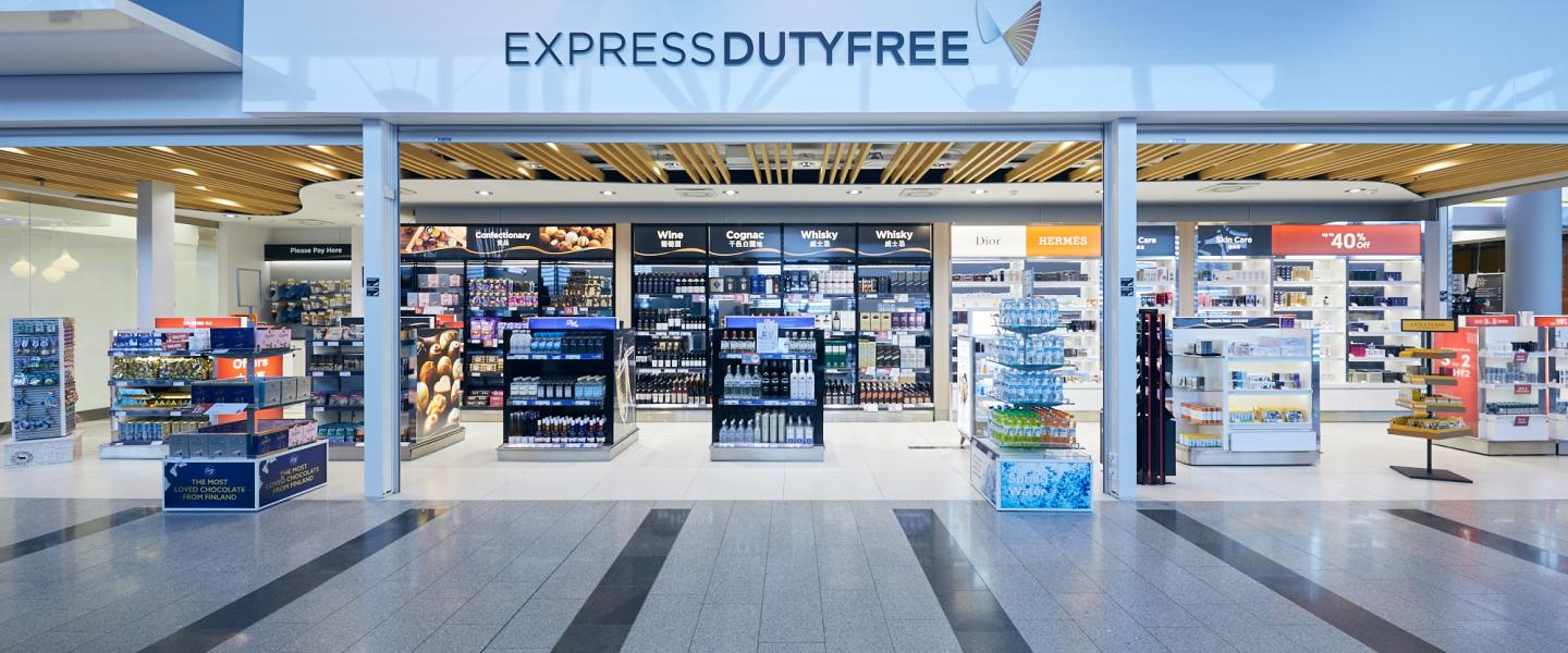 The entrance of Non Schengen Duty Free shop