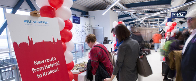 Norwegian route opening Helsinki-Krakow