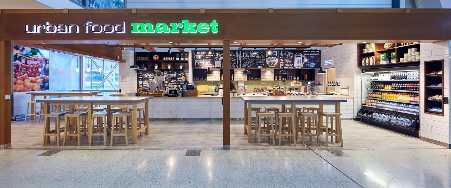 The front of Urban food market at Helsinki airport