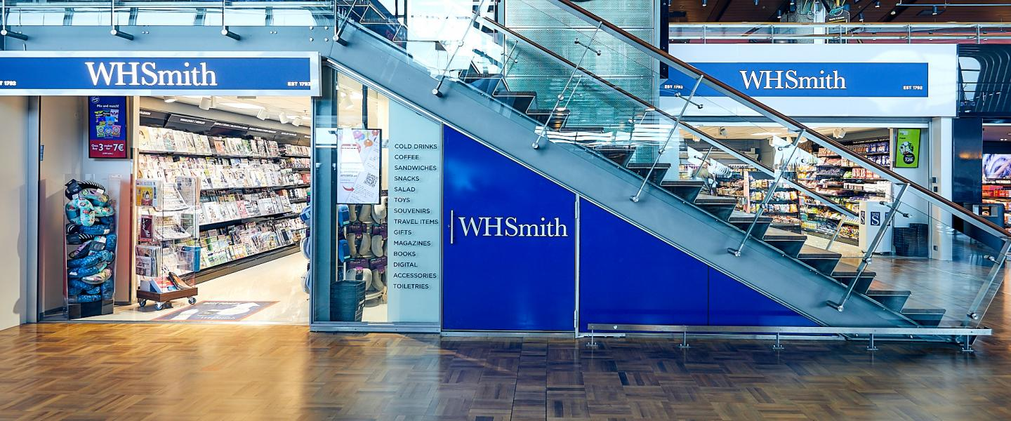 The front of WHSmith kiosk