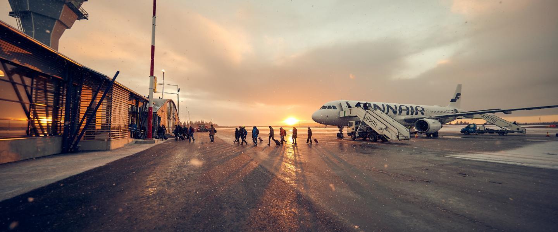 Kittilän lentoasemalla juhlittiin laajennusosan avajaisia