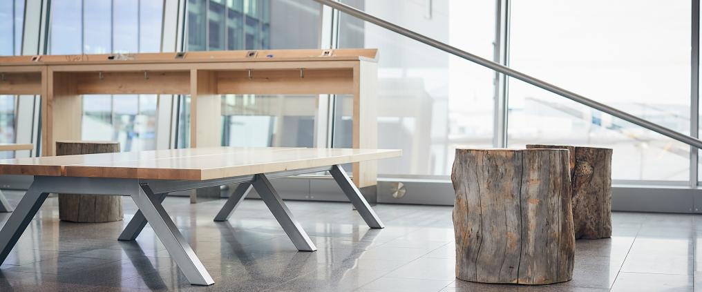 Furnishings have been designed in Finland