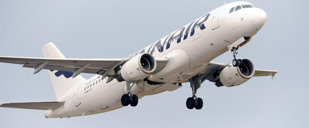 Finnairin kone taivaalla