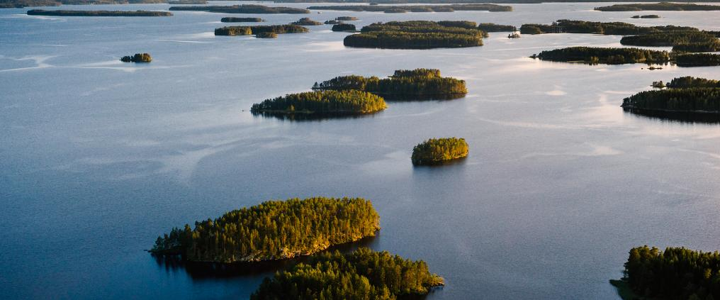 Ilmakuva järvimaisemasta