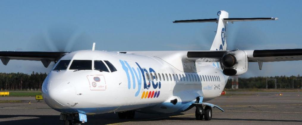 Flybe aircraft at airport.