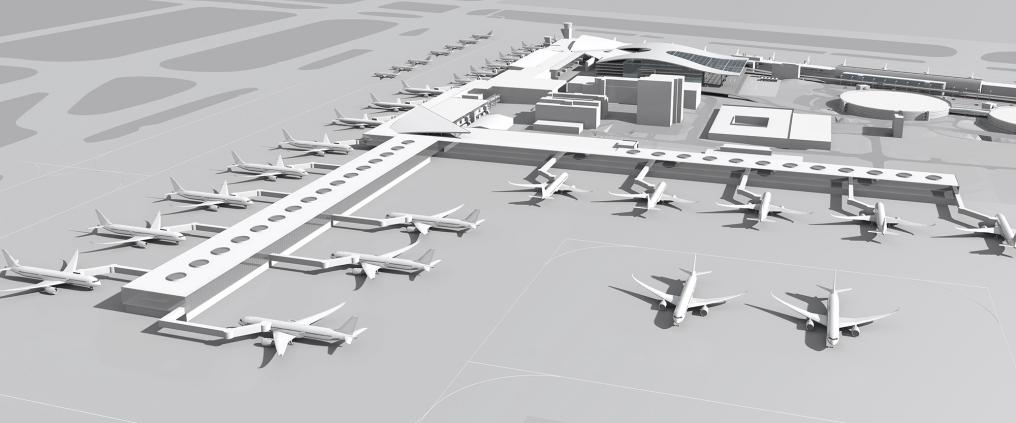 Visualization of how Helsinki Airport will look like in 2020.