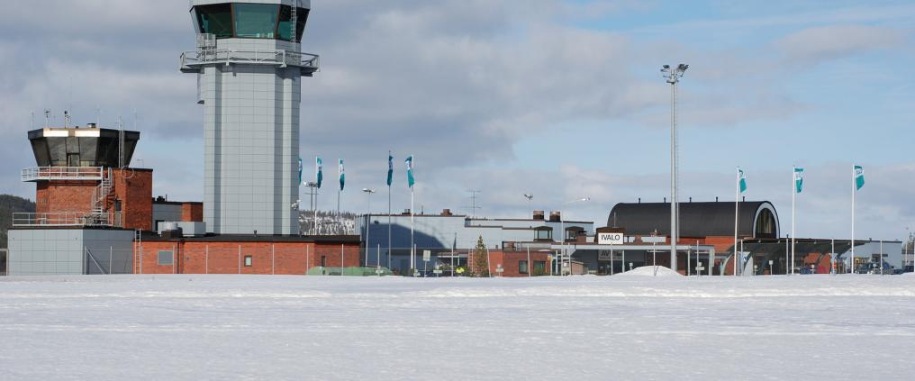 Flight control tower at Ivalo airport.