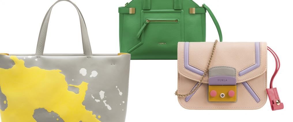 Bags by the brand Furla.