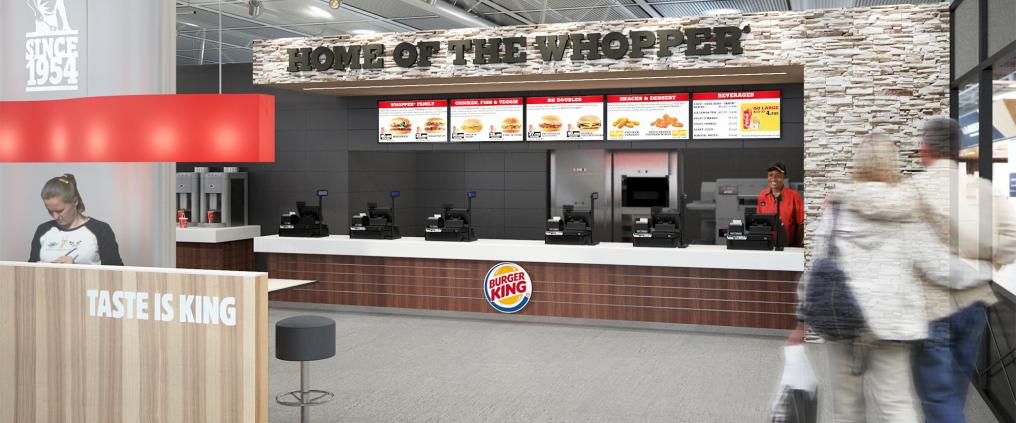 Burger king store-front visualization.