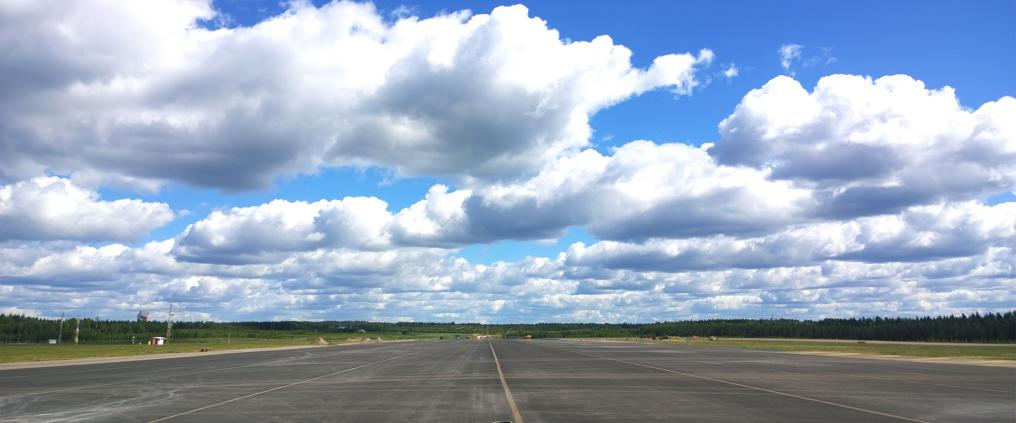 Runway on a clear day.