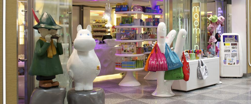 A front of a moomin shop.
