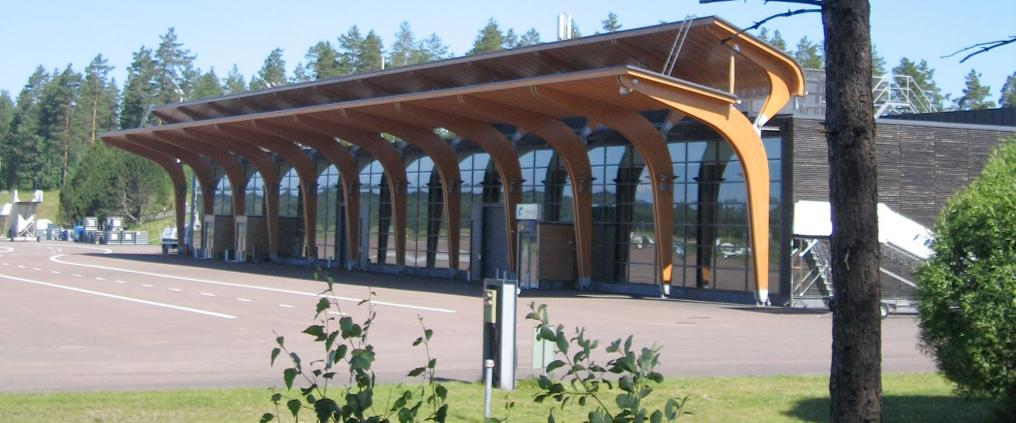 The terminal building of Jyvaskyla airport.