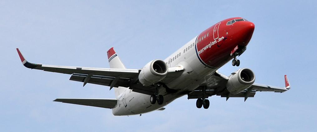 Norwegian´s airplane ascending.