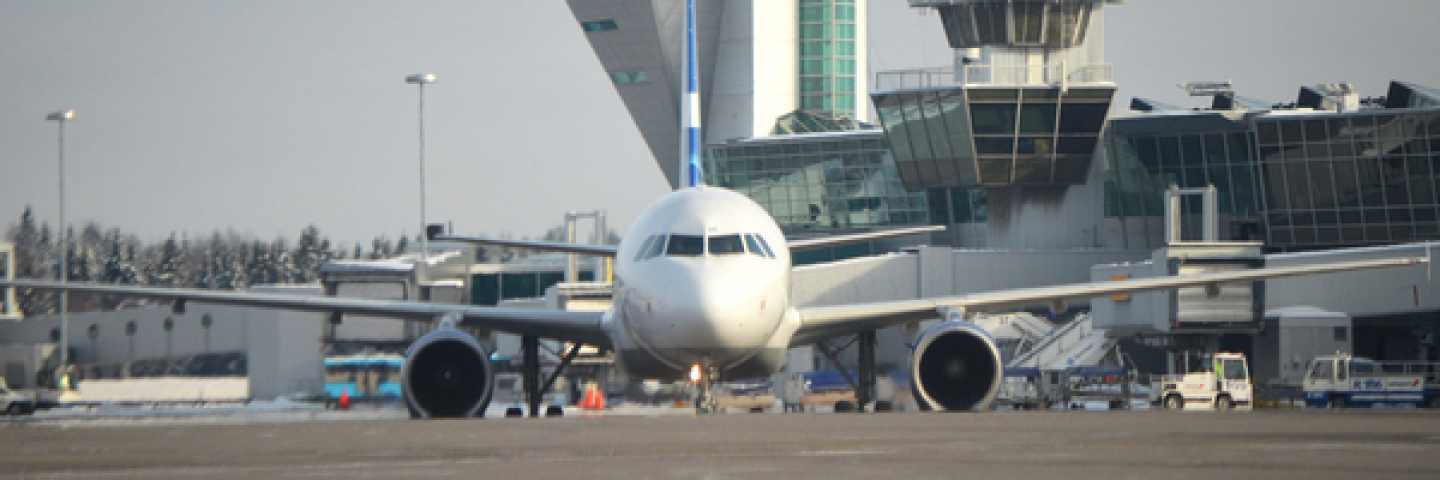 Aircraft at Helsinki Airport apron