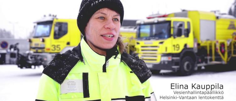 Thumbnail from the video with title Vesien hallintaa Helsinki-Vantaan lentoasemalla