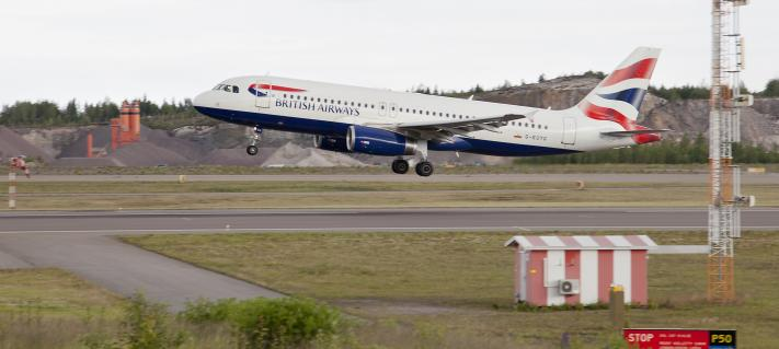 British Airways at Helsinki Airport