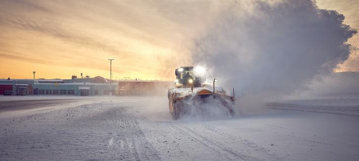 New snow removal equipment being tested at Ivalo Airport