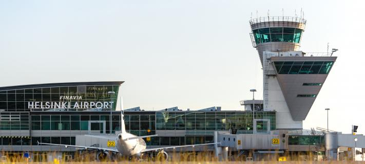 Helsinki Airport in the summer